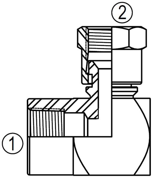 90 Degree Hydraulic Line Hose Fittings