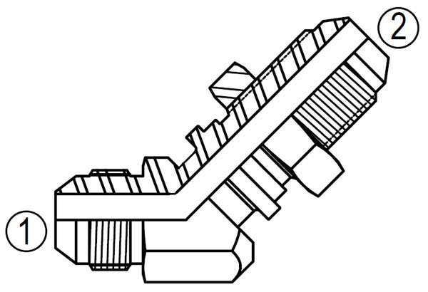 2702 45° Bulkhead Elbow