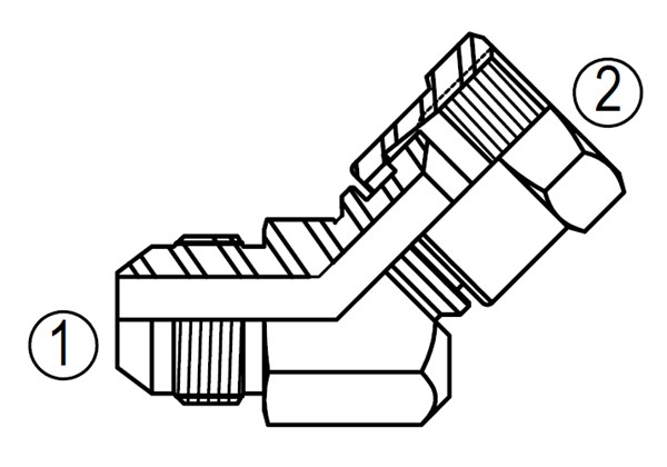 6502 45° Swivel Elbow