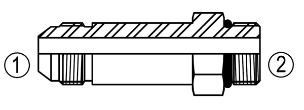 SS6400-L Straight Thread Connector Long