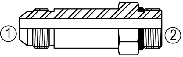 6400-L Straight Thread Connector Long