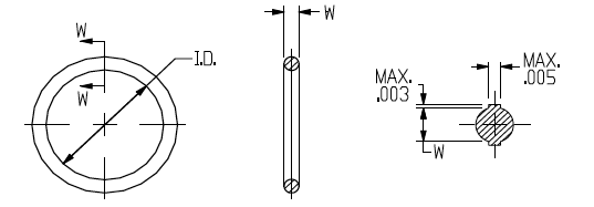 Line Drawing ORings for SAE J1926 2 3 Stud Ends